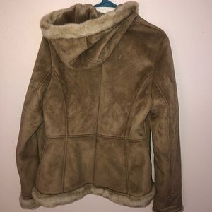 Women's Fur Coat with Hood